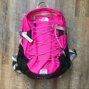 The North Face Borealis backpack pink and black